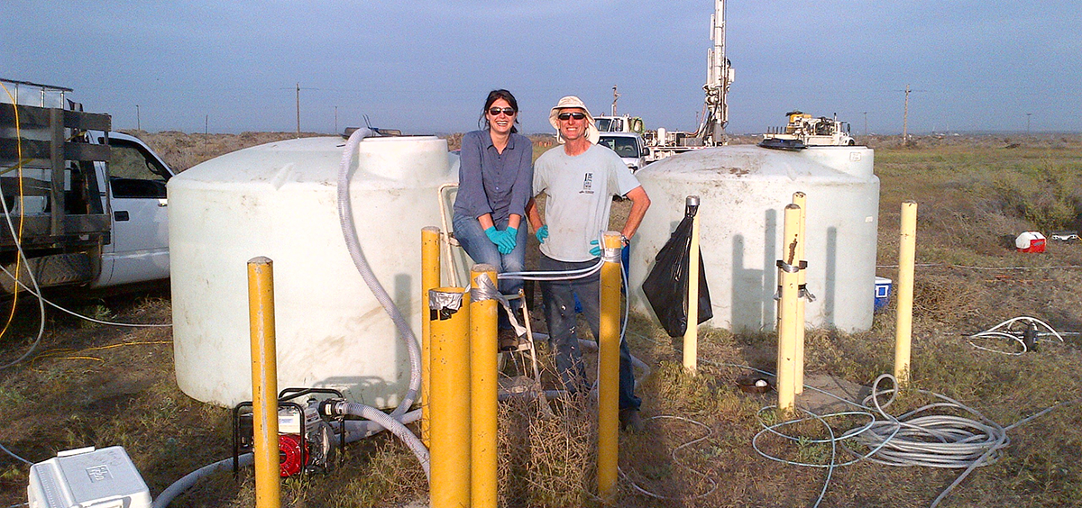 Mandy Michalsen ('07 Ph.D., Civil Engineering) and Jack Istok, professor of water resources engineering at Oregon State University.