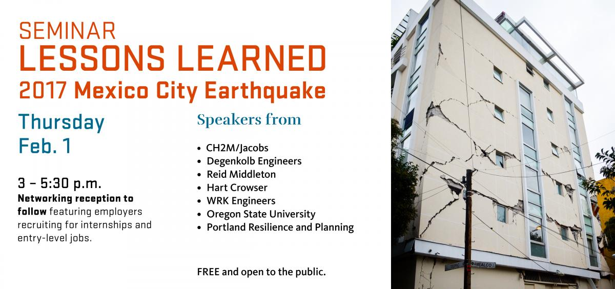 Seminar: Lessons Learned from the 2017 Mexico City Earthquake